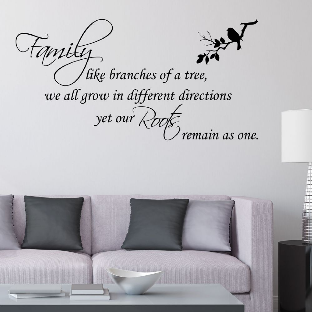 Family Like Branches Of A Tree Wall Sticker Decals